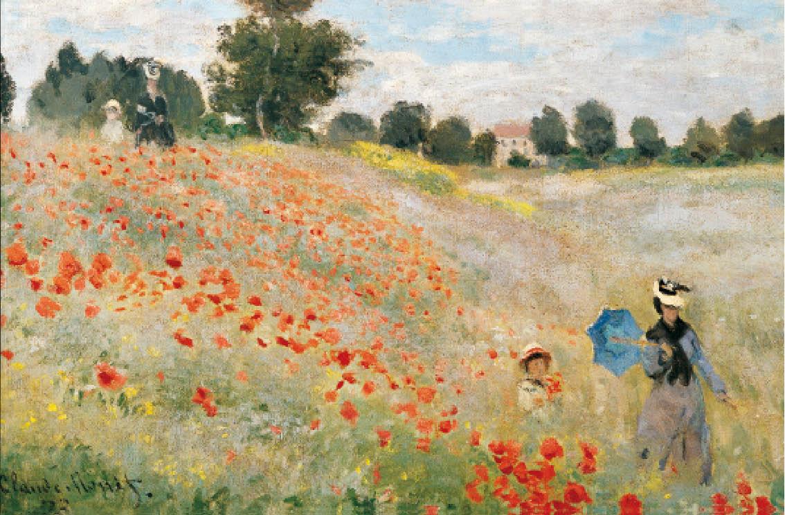 Claude Monet - Les Coquelicots à Argenteuil - Musée d'Orsay - Paris | Coquelicots peinture ...